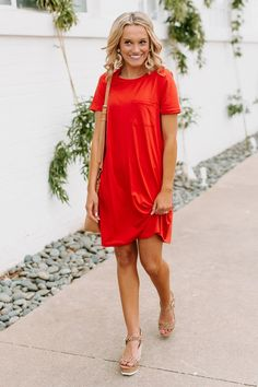 "The ""Casual Obsession"" Dress Shop The Soho Summer Outfits Women Over 40, Summer Dress Outfits, Casual Summer Dresses, Red Dress Outfit Casual, Dressy Outfits, Chic Outfits, Casual Dresses For Women, Spring Outfits, Dinner Outfits"