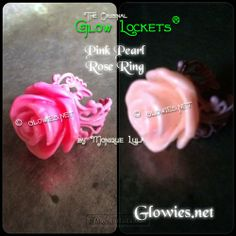 Glow in the dark rose ring by Monique Lula for Glowies.com