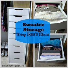 Sweater Storage Using Ikea's Alexa Tower - Through My Front Porch