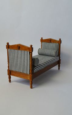 Dollhouse 1 12 Scale Furniture 3010WN French Day Bed | eBay