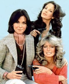 1976 - A TV show called Charlie's Angel's premiered and launched the careers of three rather unknown actresses: Kate Jackson, Farrah Fawcett & Jaclyn Smith. My first favorite show. Kate Jackson, Jaclyn Smith, Farrah Fawcett, Divas, Sweet Sixteen, Good Morning Angel, Image Film, Cheryl Ladd, Old Tv Shows