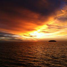 Kota Kinabalu sunset.  (I miss home)