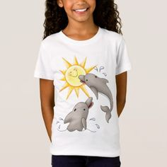 Happy Dolphin - SRF T-Shirt - tap, personalize, buy right now! Dolphin Drawing, Dolphins, Shirt Style, Your Style, Shirt Designs, San Andreas, T Shirts For Women, Bandanas, Stuff To Buy