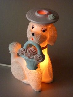 Vintage Poodle Lamp :)