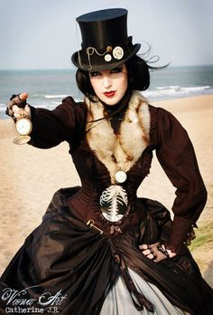 ~ Elegant Victorian Inspired Steam-punk. Check out http://www.designyourownperfume.co.uk to create your own unique fragrance to compliment your quirky steampunk style! A perfume as individual as you are...