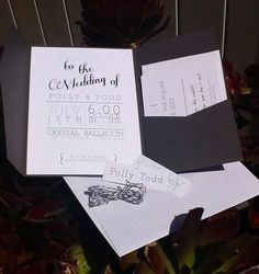 Grey Pocketfold - Wedding Invitations, rsvp card, envelopes and twine & tages. $5.00, via Etsy.