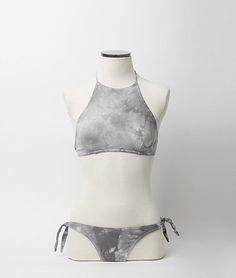 Bikini halter tie dye gris | Nicoli