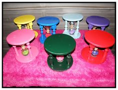 time out stool with hourglass by bianca milke kids table