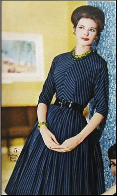 An interesting use of stripes, 1950s