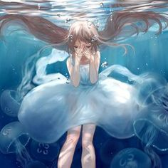 水色 | RAN [pixiv] / Water color | Art by RAN on pixiv (http://www.pixiv.net/member_illust.php?mode=medium&illust_id=30898303) #AnimeArt #pixiv #RAN
