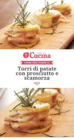 Torri di #patate con #prosciutto e #scamorza della nostra utente Sanny. Unisciti alla nostra Community ed invia le tue ricette!