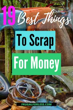 Curious about the best things to scrap for money? How would you feel if you could help the environment, clean up your backyard, and make money?  Well, you can when you turn in your old, unused scrap metal, appliances, books and other stuff in! Ways To Save Money, How To Make Money, Help The Environment, Frugal Living, Philosophy, Saving Money, Scrap, How Are You Feeling, Appliances