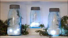 DIY-Salted Mason Jar Christmas trees