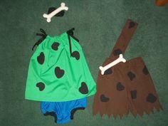 Pebbles & Bam-Bam costumes on Etsy, $50.00