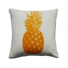 Pineapple hand printed linen cushion by Bonnie and Neil - yellow from Southwood Home Pineapple Yellow, Pineapple Design, Yellow Cushions, Throw Cushions, Bonnie And Neil, Cushions Online, Luxury Throws, Printed Linen, Perfect Pillow