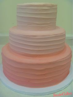 SusieCakes 3 Tier Textured Wedding Cake