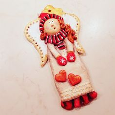 Salt Dough, Gingerbread Cookies, Clay, Angel, Christmas Ornaments, Holiday Decor, Handmade Gifts, Needlepoint, Gingerbread Cupcakes