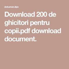 Download 200 de ghicitori pentru copii.pdf download document. Pdf, Education, Onderwijs, Learning
