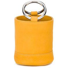 SIMON MILLER Yellow Orange Bonsai Bag ($490) ❤ liked on Polyvore featuring bags, handbags, yellow orange, simon miller handbags, mini purse, orange bag, orange purse and structured handbags