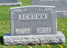 Hugo H. & Amalia M. (Schumm) Schumm, Zion Lutheran Cemetery, Schumm, Van Wert County, Ohio. (2012 photo by Karen) #genealogy