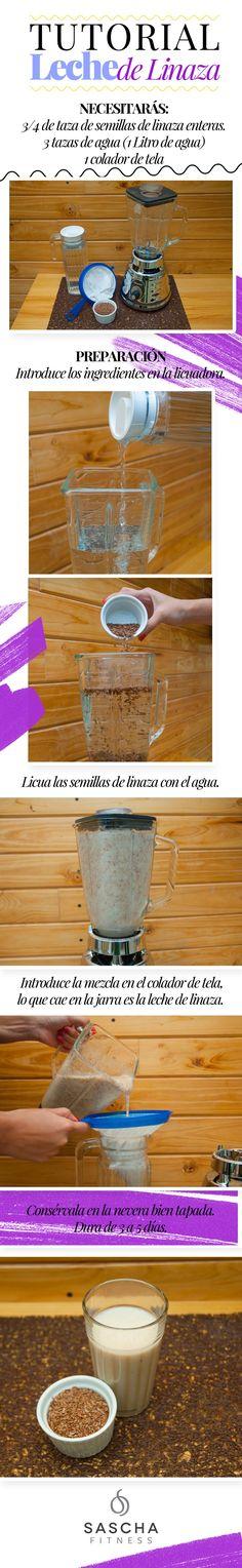 Flaxseed milk - Leche de linaza Receta Saschafitness Leche vegetal de linaza, son muy saludables estas leches para nuestro organismo, empezemos a prepararlas!!