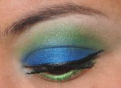 An exotic bird inspired eye with Sour, Bluebird, and 1939 by @Ashlee Frazee Cosmetics
