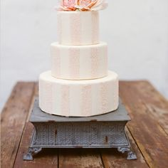 Lovely Stripe Pink Cake