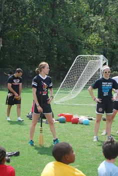 Kidventure Quidditch with University of Maryland Quidditch Team...OMG!!! I know this girl I worked with her! Hi Sarah!!