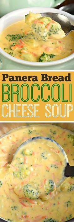 Panera Broccoli Cheese Soup is ready in less than 30 minutes! The perfect bowl of comfort food without leaving your house!Copycat Panera Broccoli Cheese Soup is ready in less than 30 minutes! The perfect bowl of comfort food without leaving your house! Cooker Recipes, Crockpot Recipes, Casserole Recipes, Good Food, Yummy Food, Tasty, Think Food, Healthy Recipes, Lunch Recipes