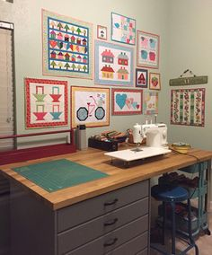 A Refreshed, Reorganized And Revived Sewing Studio, Including A Sewing Table  From Ikea And