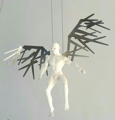 Rudolf Bitzer: Sticks collector. Polyurethane & mild steel Small Sculptures, The Collector, Sticks, Steel, Steel Grades, Iron