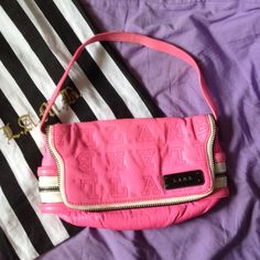 "Spotted while shopping on Poshmark: ""L.A.M.B. Mini Pink Shoulder Bag/Purse Shoulder Bag""! #poshmark #fashion #shopping #style #L.A.M.B. #Handbags"