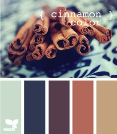 Color Scheme: cinnamon honey caramel wheat, with small touches of navy and eggplant
