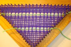 Leno Lace on a tri loom