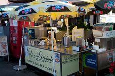 Crepe seller. Montreux, Switzerland.