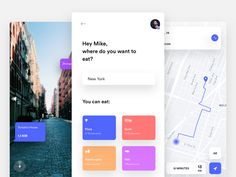 Food app - Map & AR by Nicola Baldo - Dribbble