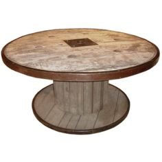 Large Industrial spool table | From a unique collection of antique and modern Dining Room Tables at https://www.1stdibs.com/furniture/tables/dining-room-tables/.