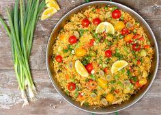 """Vegetable Paella Using Cauliflower """"Rice"""""""