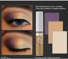 Beautiful #marykay #eyecolors with #atplay gold #liquideyeliner. Great for blue eyes!!! www.marykay.com/Elizabethpadgett