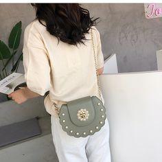 2020 lato nowy siodło torebki damskie wysokiej jakości PU skórzane damskie projektant Pearl Chain kobieta torby listonoszki|Torebki na ramię| - AliExpress