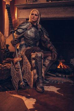 Epic Characters, Dungeons And Dragons Characters, Cosplay Characters, Skyrim Elder Scrolls Online, Elder Scrolls Games, The Elder Scrolls, Lightning Cosplay, Skyrim Wallpaper, Witcher Art