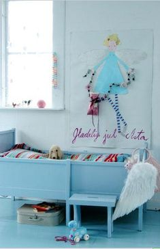 Blue girls room house