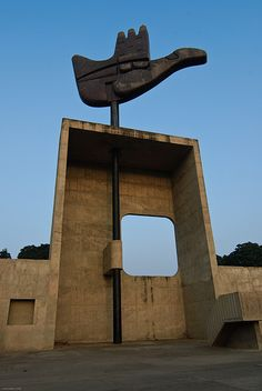 Open Hand by Le Corbusier, Chandigarh, 1950s