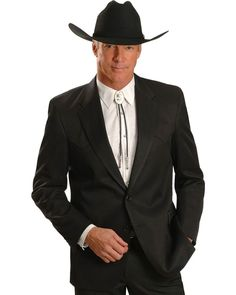 Circle S Clothing Men's Big Tall Lubbock Suit Coat So Convenient. Buy Your Suit Jacket And Suit Pants Separately To Get The Perfect Sizes At Sheplers. Make business a real pleasure with a comfortable, stylish suit coat Accessories not included Mens Western Suits, Western Sport Coat, Western Wear, Mens Suits, Western Shirts, Suit Men, Western Style, Cowboy Suit, Maude