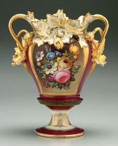 Old Paris Porcelain Urn,