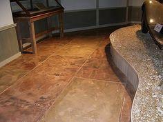 Kitchen? - Like the tile look Concrete Floors Commercial Concrete - South Texas Bomanite San Antonio, TX