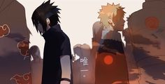 Sasuke Uchiha and Naruto Uzumaki Sasunaru, Boruto, Naruto Uzumaki Shippuden, Narusasu, Naruhina, Naruto And Sasuke, Naruto Cute, Gaara, Wattpad