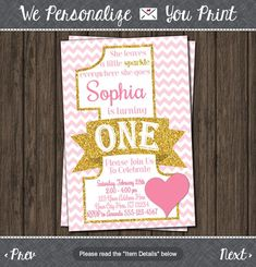 Valentine Birthday Invitation Valentines First by PuggyPrints