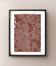 Brockton, Massachusetts Map Print by CartoCreative