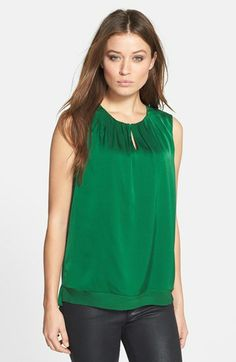 Elie Tahari 'Anabelle' Sleeveless Stretch Silk Blouse available at #Nordstrom